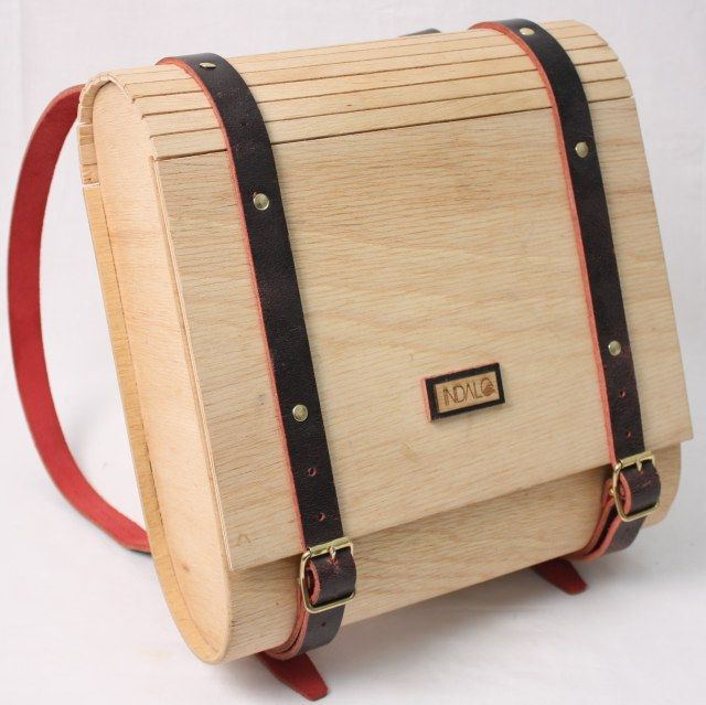 wooden satchel