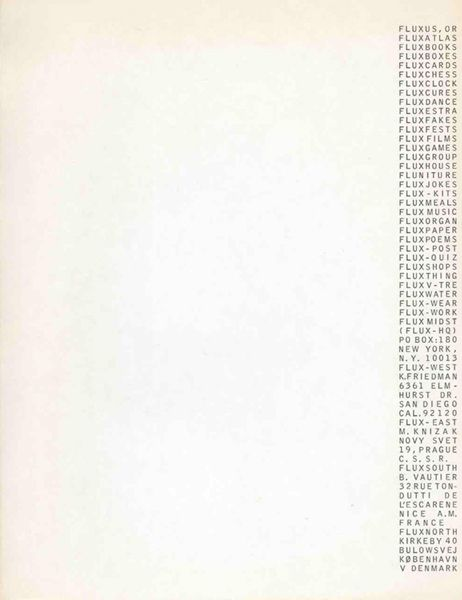 George Maciunas, Fluxus Stationery, 1966