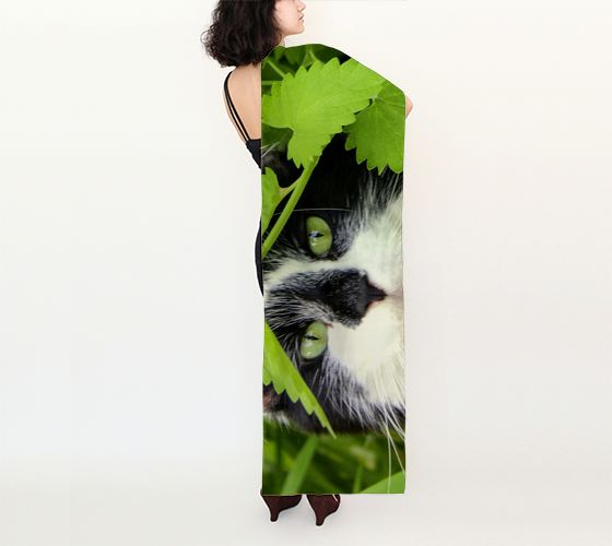 Cat in Catnip Long Silk Scarf preview