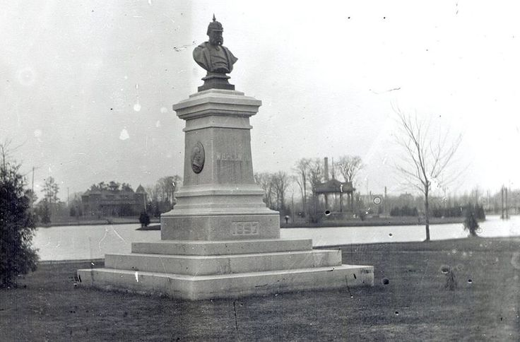 Statue of Kaiser Wilhelm I , set up in the 1897 in Victoria Park,Berlin, (now Kitchener),Ontario,Canada. In 1916, a movement began to change the name of the city.