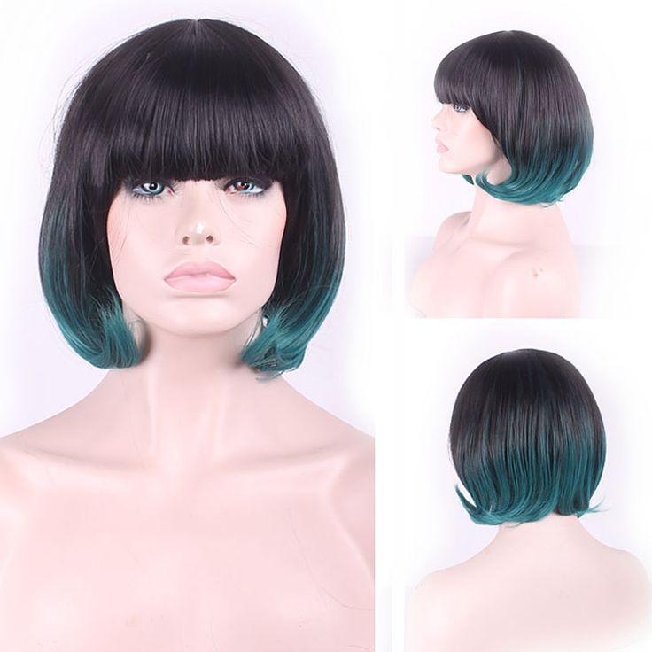 $13.09 (Buy here: https://alitems.com/g/1e8d114494ebda23ff8b16525dc3e8/?i=5&ulp=https%3A%2F%2Fwww.aliexpress.com%2Fitem%2F32cm-Fashion-Sexy-Fluffy-Bob-Ladies-Synthetic-Wig-Women-Neat-Bangs-Short-Hair-Cosplay-Wigs-Girl%2F32641030322.html ) 32cm Fashion Sexy Fluffy Bob Ladies Synthetic Wig Women Neat Bangs Short Hair Cosplay Wigs Girl Black Green Ombre for just $13.09