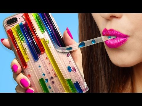 DIY LIQUID Rainbow Phone Case You've NEVER Seen Before! - YouTube