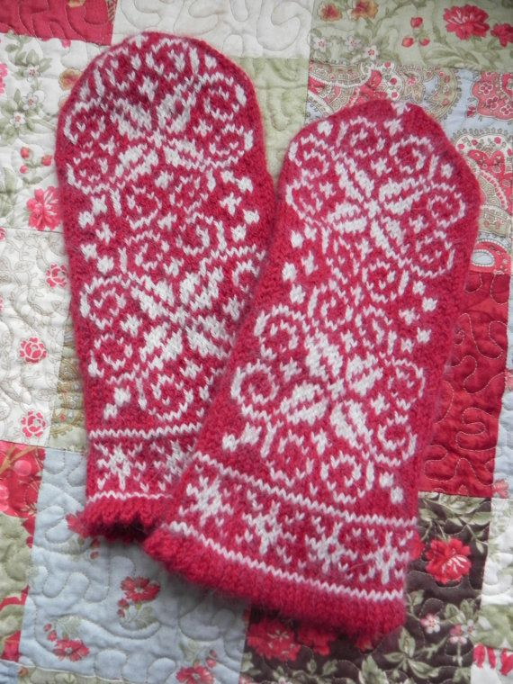Wonderfully Warm Winter Snowflake Mittens by cutiepatootees, $45.00