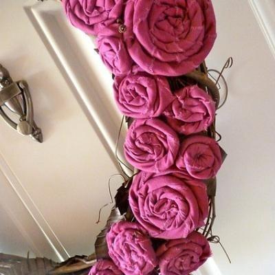 Rosette Grapevine Wreath