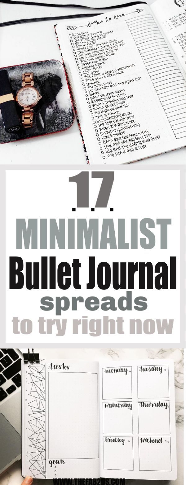 18 Minimalist Bullet Journal Spreads You Have To Try Right Now