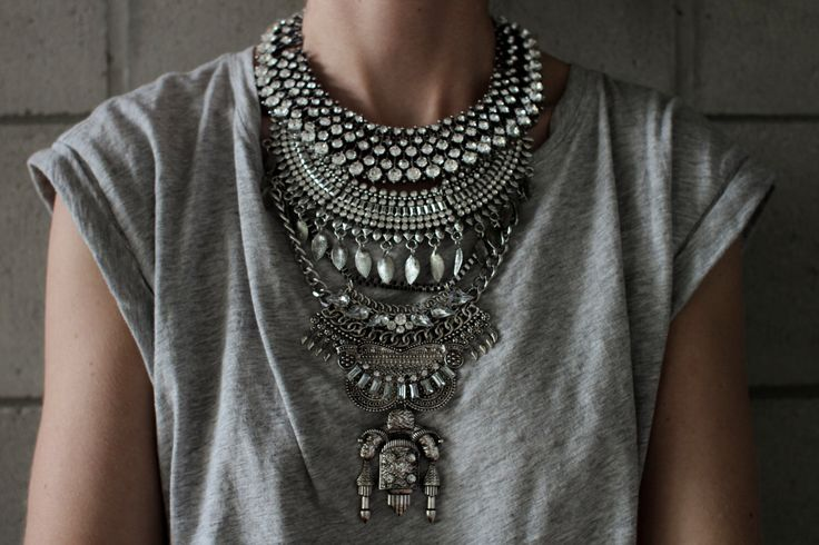 JUDAH NEW 2015 collection! Handcrafted Statement Necklace: Silver crystal layered & stacked rhinestone ethnic bohemian necklace by Lacersuite on Etsy https://www.etsy.com/listing/236426038/judah-new-2015-collection-handcrafted