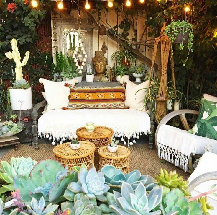 28 Absolutely Dreamy Bohemian Garden Design Ideas Hippie Home Decor Home Bohemian Patio