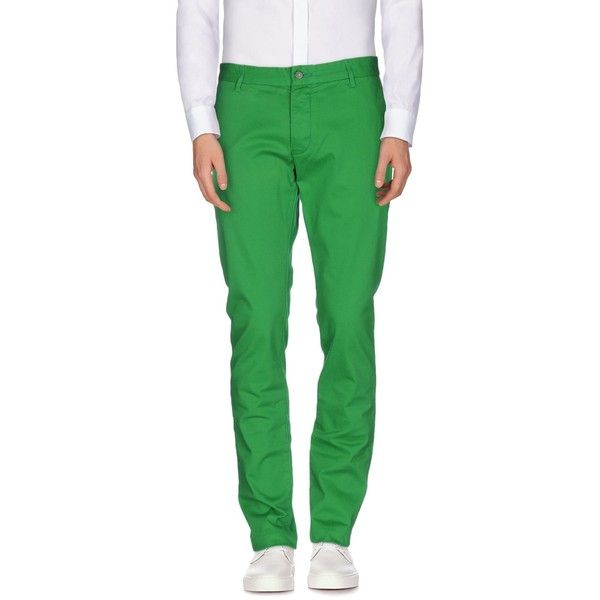 Armani Jeans Casual Pants ($114) ❤ liked on Polyvore featuring men's fashion, men's clothing, men's pants, men's casual pants, green, mens green pants, mens green chino pants, mens chinos pants and mens chino pants