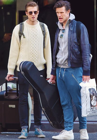 This is my absolute favorite picture of Matt and Arthur. I mean come on, it's just so awesome.