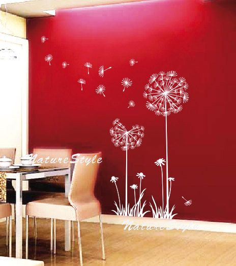 dandelion: Wall Art, Nurseries Wall, Red Wall, Nurseries Rooms, Vinyls Wall Decals, Baby Rooms, Wall Stickers, Girls Rooms, Kids Rooms