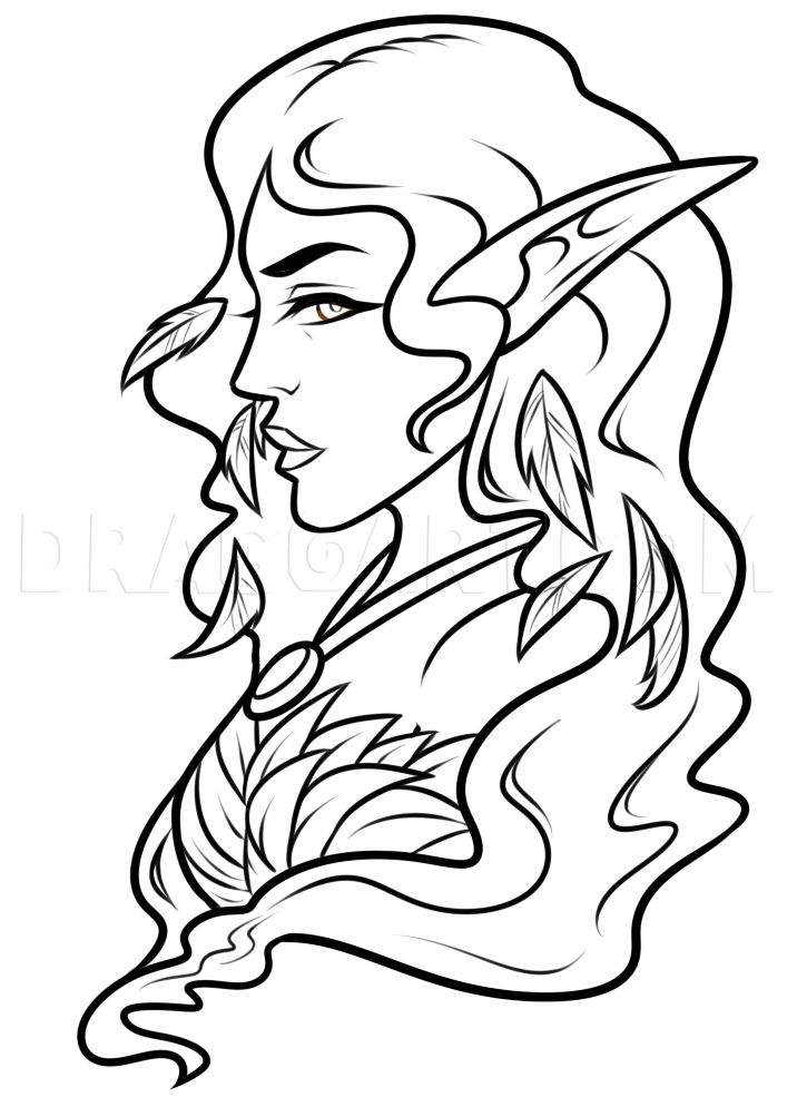 Easy Elf Drawing Lesson, Step by Step, Drawing Guide, by