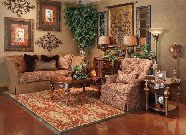 Living brown rooms in 2019 home decor tuscany decor - Pictures of decorated living rooms ...