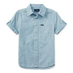 Chambray Short-Sleeve Shirt - Boys 2-7 Sport Shirts - RalphLauren.com