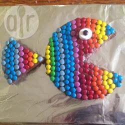 Rezeptbild: Regenbogenfisch Geburtstagskuchen