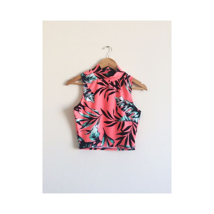 Croptop tropical #croptop #fashion