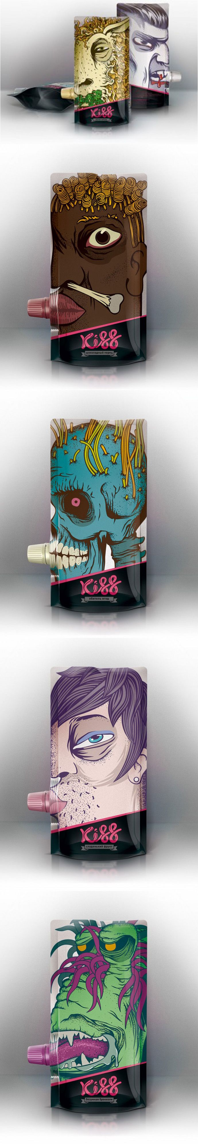 Weird but cool Kiss #illustrated #packaging PD
