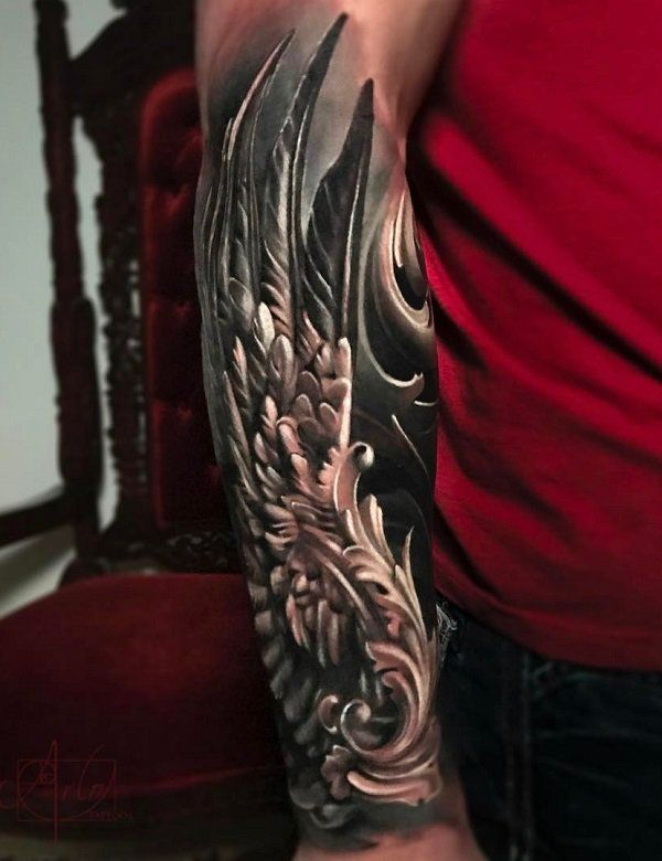 678b852f28a10 35 Breathtaking Wings Tattoo Designs | Wing tattoo | Wing tattoo ...