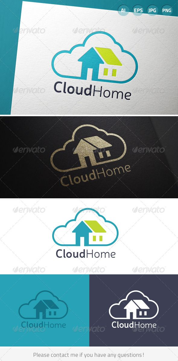 Cloud Home by beyourself Cloud home housing real estate concept. Includes CMYK color, black and white versions. Includes AI CS6, EPS 10, 300DPI JPEG and T