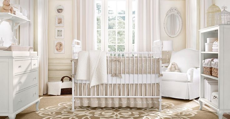 nursery: Restoration Hardware, Decoration, Baby Girl, Baby Rooms Design, Neutral Nurseries, Nurseries Design, Nurseries Idea, Girls Nurseries, Baby Nurseries