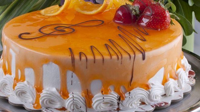 Orange Mousse Cake