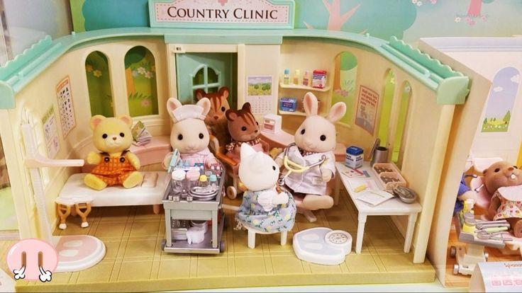 シルバニアファミリー 人気のおもちゃがたくさん!シルバニアガーデンに行ったよ♪病院 幼稚園バス お店やさん パン屋さん 学校 歯医者さん ごっこ...