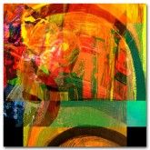 Scratchings (square) on canvas  #art #abstract #red #orange #green #blue http://www.thecanvasartfactory.com.au