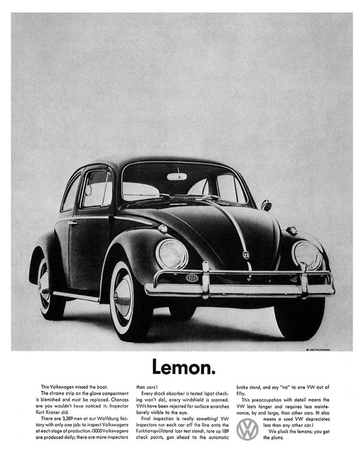 Lemon. (One of the best ads ever made.)