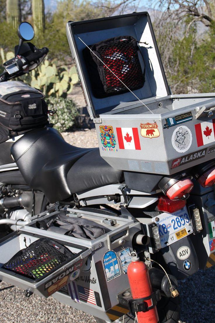 Amazon.com: The motoPOCKET Side Case with netting moto POCKET: Automotive