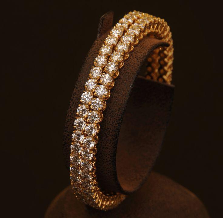 Brilliantly cut solitaire diamond bangles!