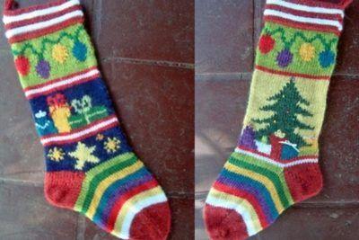 Mix-It-Up Christmas Stocking Intarsia