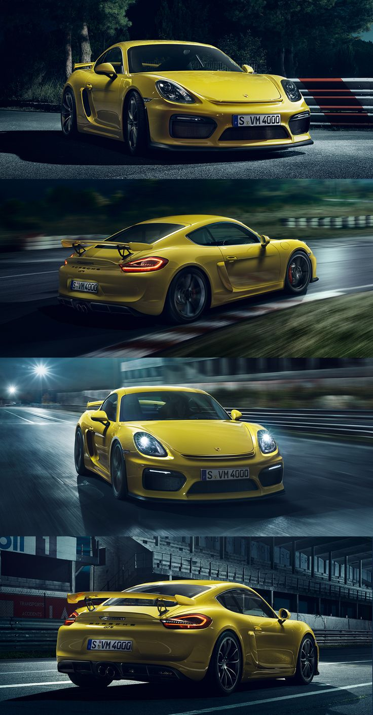 More downforce. More traction. More thrust. More power. More than any Cayman has ever had before. That's what makes it the Cayman GT4: the super GT with the distinctive mid-engine layout. *Combined fuel consumption in accordance with EU 6: 10.3 l/100 km; CO2 emissions; CO2 emissions: 238 g/km