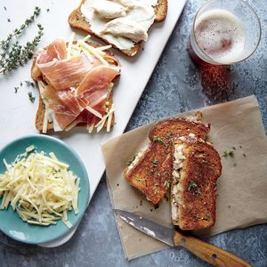 Chicken Cordon Bleu Grilled Cheese Sandwiches | MyRecipes.com