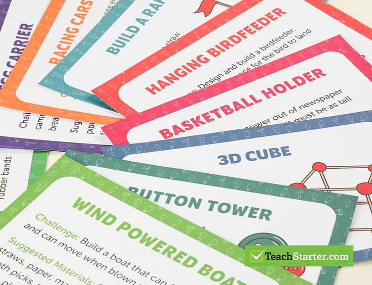 Mini Stem Challenge Cards - Lower Years