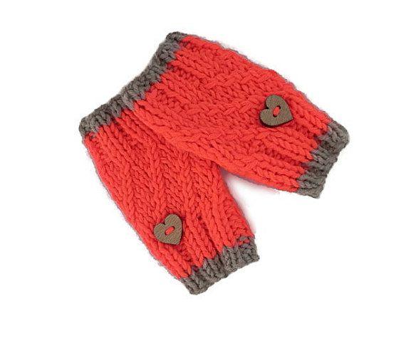 Baby Gloves, Fingerless Gloves, Neon Wristlets, Hand Knit Gloves, Toddler Wrist Warmers