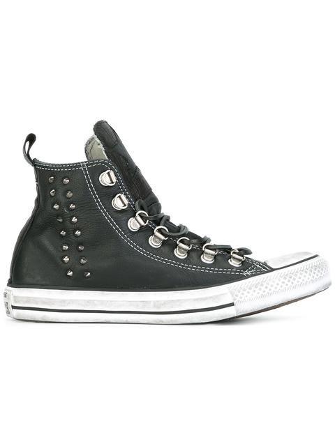 CONVERSE studded detailing hi-tops. #converse #shoes #hi-tops
