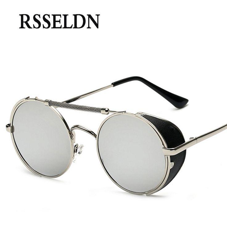 $8.43 (Buy here: https://alitems.com/g/1e8d114494ebda23ff8b16525dc3e8/?i=5&ulp=https%3A%2F%2Fwww.aliexpress.com%2Fitem%2F2016-Fashion-Personality-Steampunk-Cool-Mens-Sunglasses-Brand-Designer-Color-Film-Reflective-Round-Unisex-Glasses-Sun%2F32753281225.html ) RSSELDN New Round Steampunk Sunglasses Women Brand Designer Sun Glasses Men Circle Retro Coating Steampunk Sunglass oculos for just $8.43