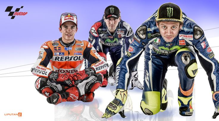 Valentino Rossi, Marc Marquez dan Jorge Lorenzo (Liputan6.com/Abdillah)