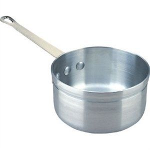 Aluminium Saucepan 3pt 16cm. Lid sold separately. by Vogue. $47.76. Brushed satin finish.. Coolgrip silicon handles also available.. Reinforced double thick rims.. Secure riveted handles.. Aluminium saucepans have a strong and robust heavy duty design and spread heat quickly and evenly. They feature reinforced double thick rims with secure, riveted handles. Cool grip handles available to buy separately. Lids sold separately.