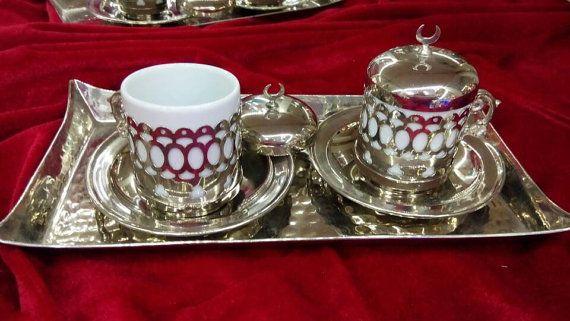 Coffee set mug Coffee service Coffee cup Tea Cups Ottoman tray