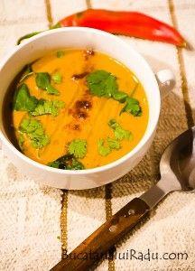 Supa de fasole arabo-saudita. Supa crema vegetariana.