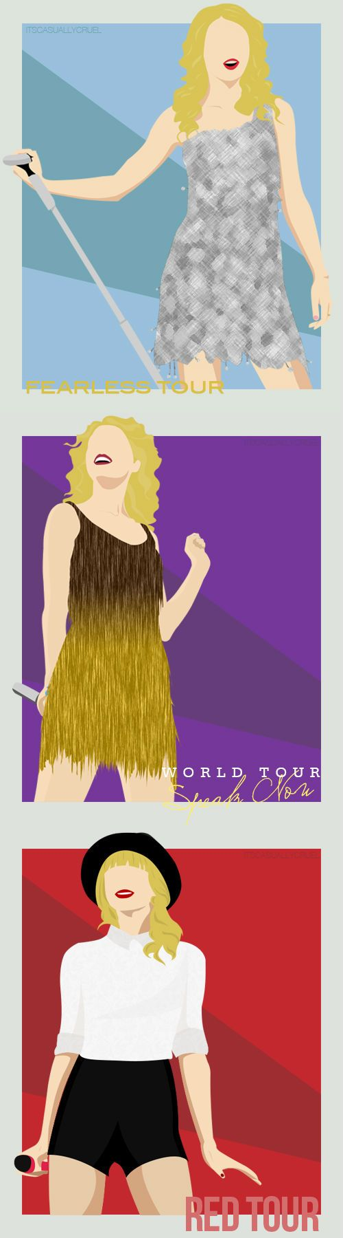 Journey To Fearless, The Speak Now World Tour and The Red Tour! And there is about to be a new one 1989 WORLD TOUR!!