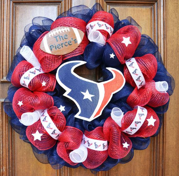 Hey, I found this really awesome Etsy listing at http://www.etsy.com/listing/158318387/personalized-houston-texans-wreath-with