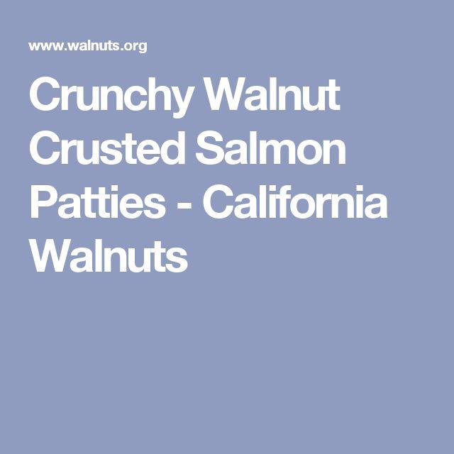 Crunchy Walnut Crusted Salmon Patties - California Walnuts