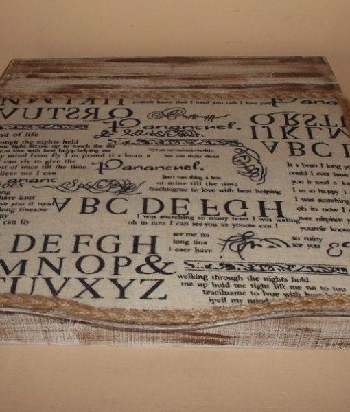 κουτι γραμματων λογαριασμων27Χ27,5Χ8 ντεκαπε πατινα υφασμα εφημεριδα