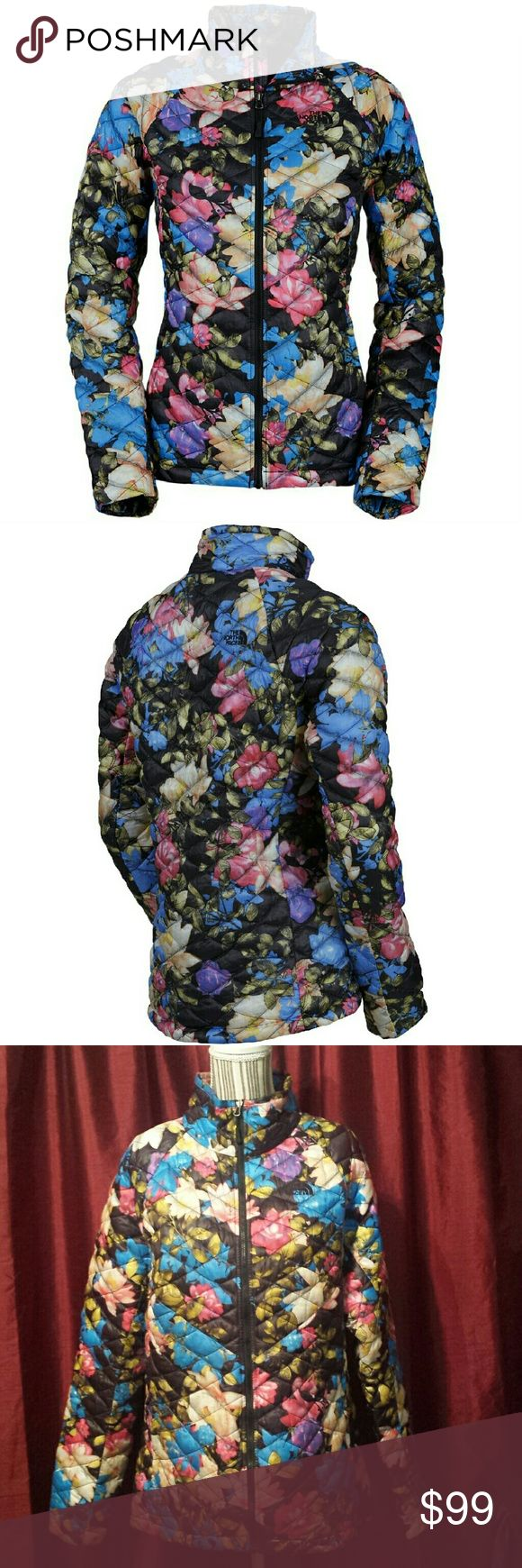 North Face thermoball jacket The North Face floral thermoball jacket  Like new North Face Jackets & Coats
