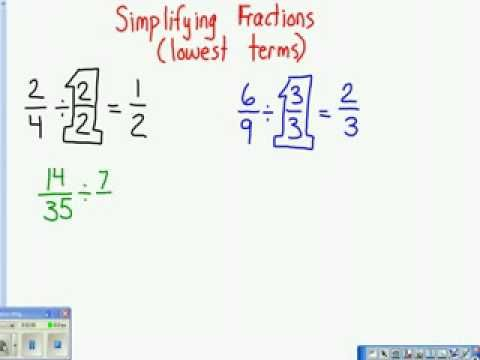 Simplifying Fractions - Glad I found this he is doing it in class now  sc 1 st  Pinterest & 80 best Fractions~~simplify images on Pinterest | Simplifying ...