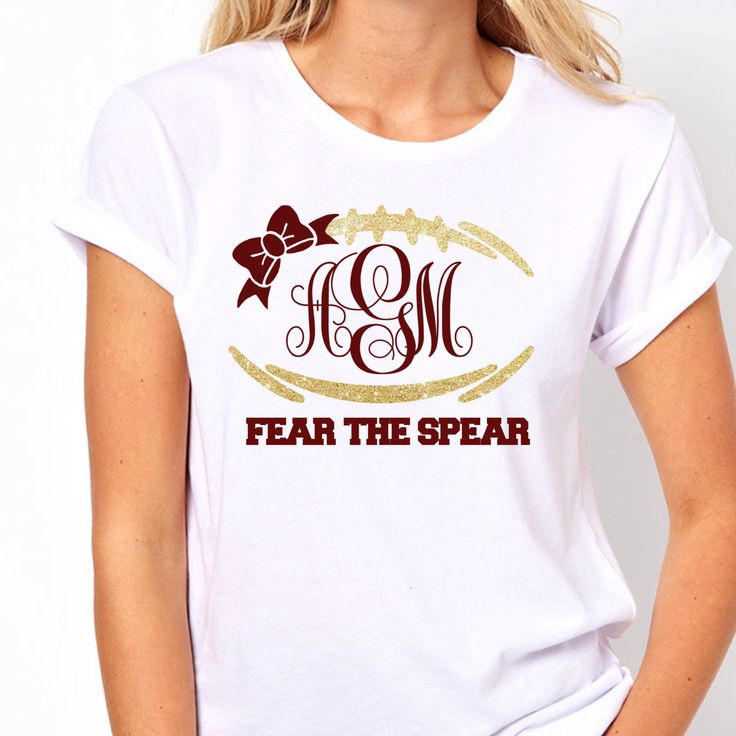 Monogram football tee, trendy shirts, womens monogram shirts, florida state football shirts, monogram shirts for women,  FSU shirts by LineLiamBoutique on Etsy https://www.etsy.com/listing/225640004/monogram-football-tee-trendy-shirts