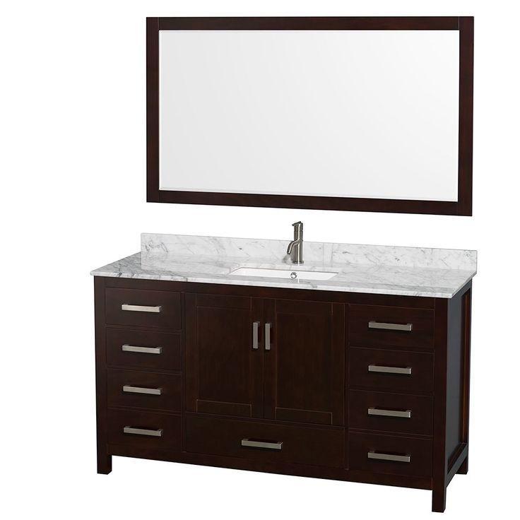 Best Home Bathrooms Images On Pinterest Bathroom Ideas - 58 inch bathroom vanity for bathroom decor ideas