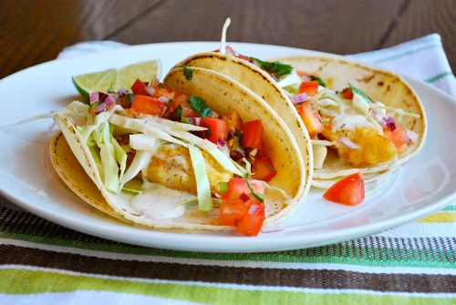 Recipe and images for Baja Fish Tacos with Fresh Pico de Gallo Salsa by Lacey Stevens-Baier, a sweet pea chef