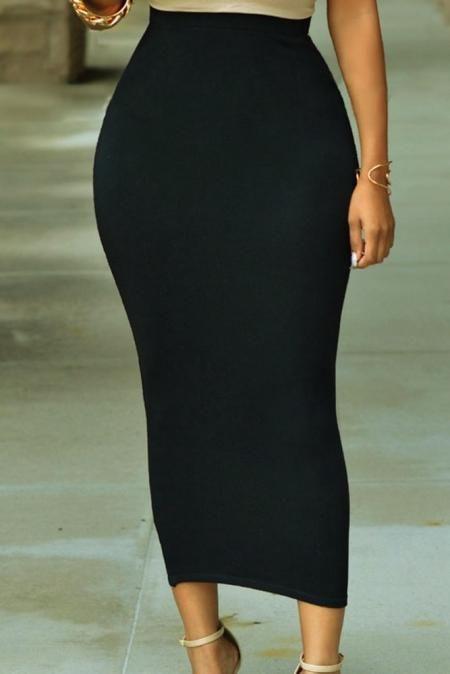 Jupe Longue Taille Haute Moulante 5
